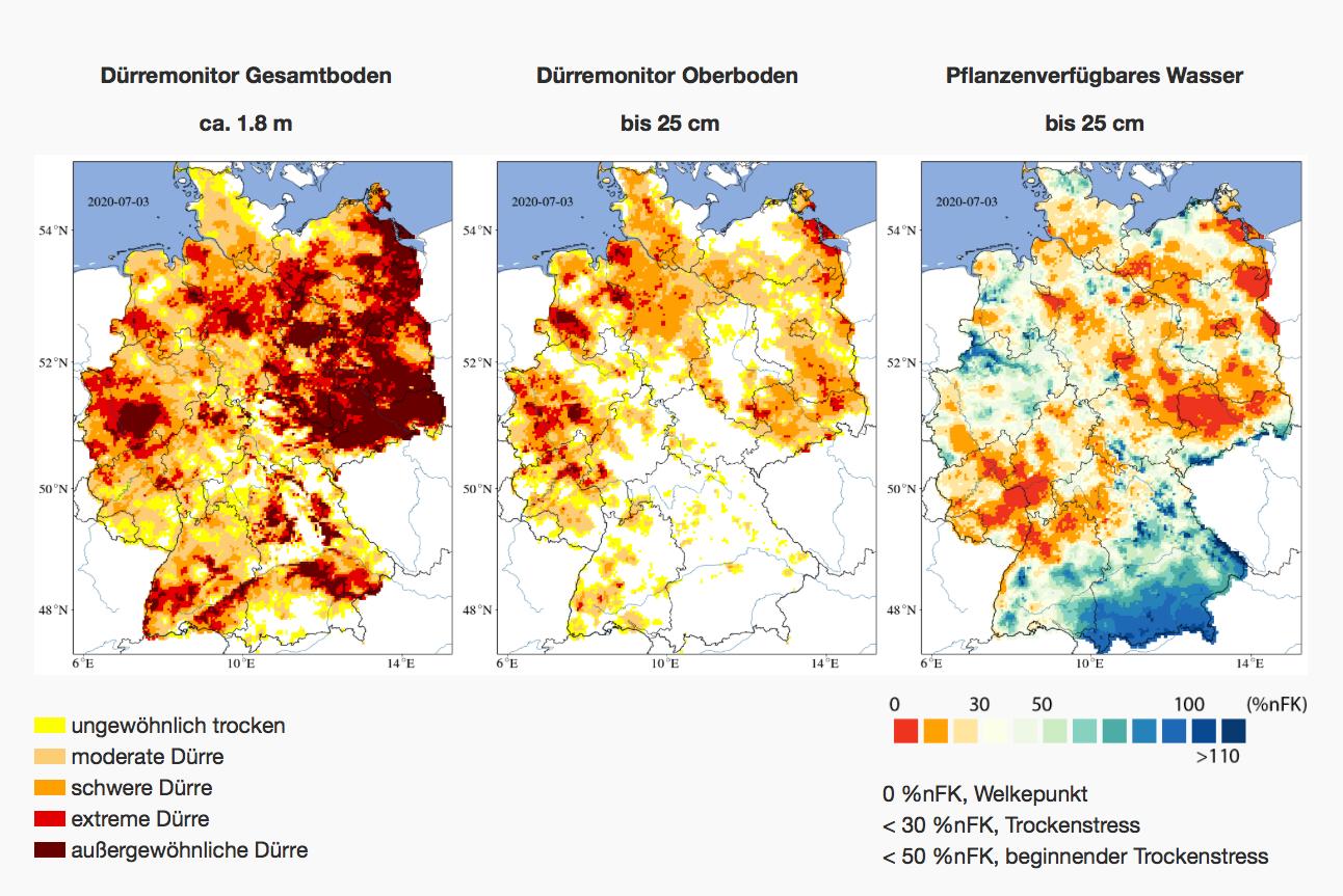 Dritte Jahr in Folge Wasserknappheit in Deutschland