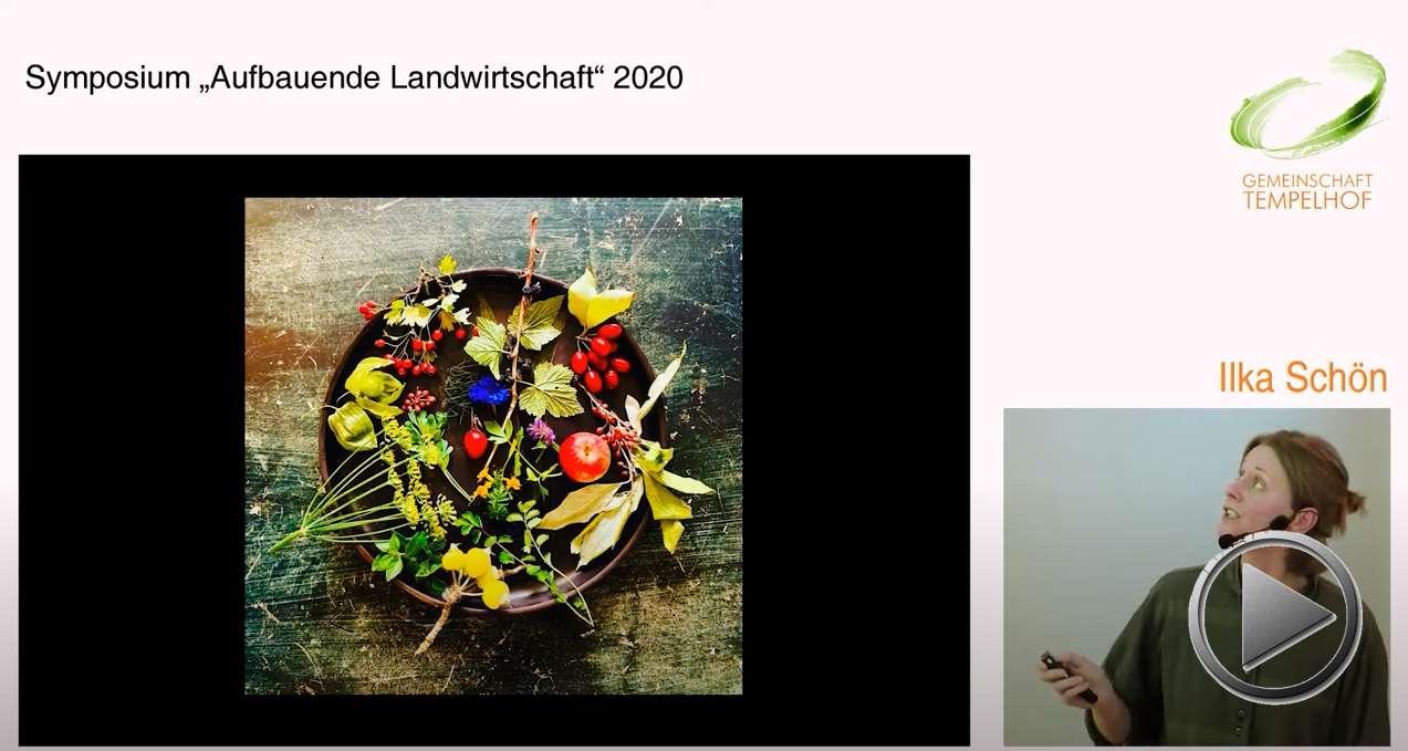 """Präsentation: Gärtnerei meets Edel-Restaurant. Ilka Schön. Symposium """"Aufbauende Landwirtschaft"""" 2020"""