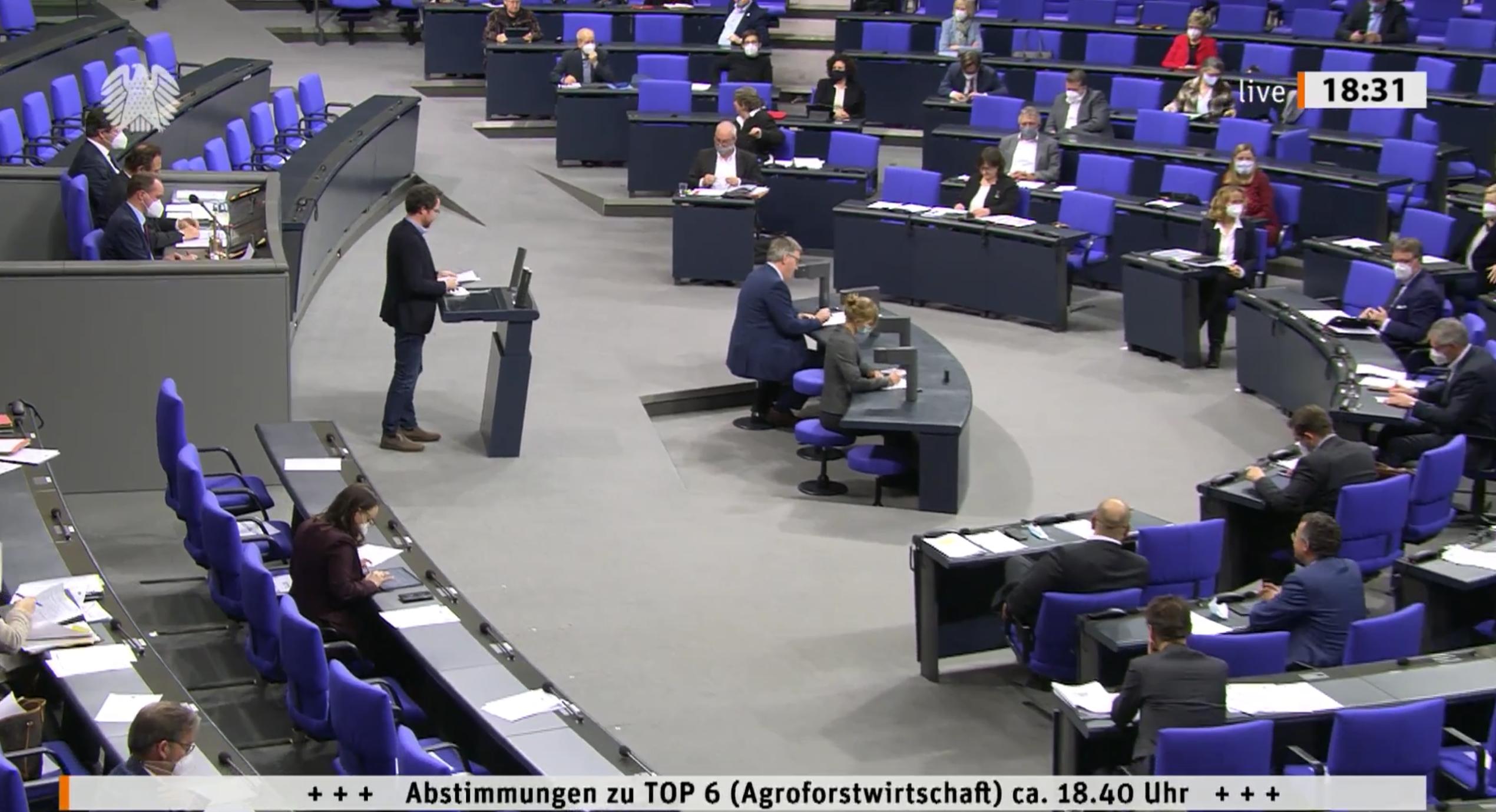 Bundestag tritt für eine Förderung der Agroforstwirtschaft ein