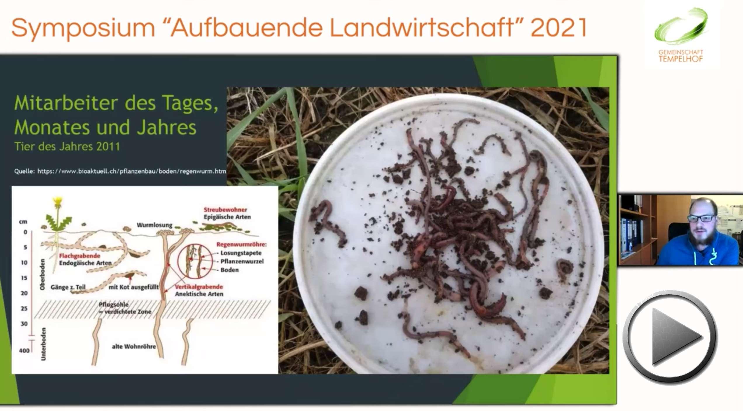 """Präsentation: Florian Röttger // Mit der Umstellung auf Direktsaat Erträge sichern und Biologie fördern // Symposium """"Aufbauende Landwirtschaft"""" 2021"""