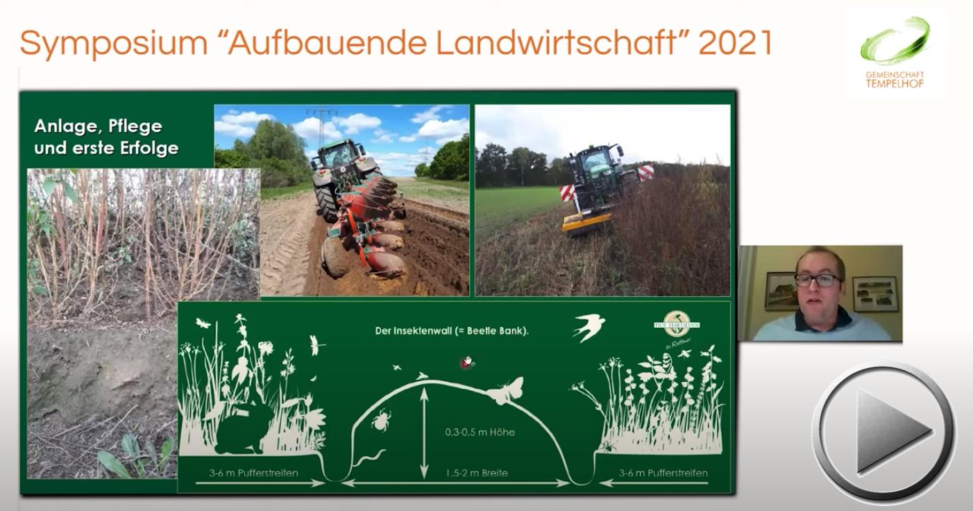 """Präsentation: Jochen Hartmann // Mit Käfern, Spinnen & Co zu mehr Biodiversität in der Agrarland // Symposium """"Aufbauende Landwirtschaft"""" 2021"""