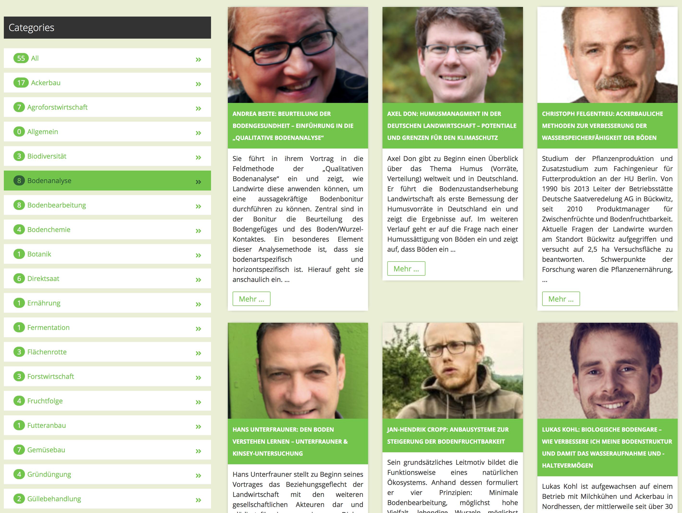 Einzelwebinare der Webinar-Reihen »Aufbauende Landwirtschaft« stehen neu zur Verfügung